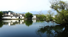 Tradtional Chinese Hui Style Villiage View Stock Image