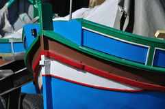 Tradtional fishing boat - Malta. Small traditional fishing boat, made of wood, coloured, painted, Malta Royalty Free Stock Image