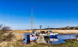 Tradtional fishing fjord boats, Royalty Free Stock Images