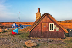 Tradtional fishing hut, Nymindegab, Royalty Free Stock Photos