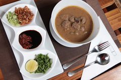 Tradtional food from Makassar named coto stock photography