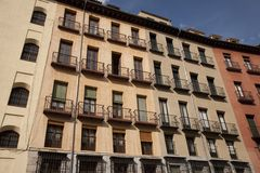 Tradtional Housing in Madrid Royalty Free Stock Photography