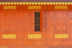 Tradtional Thai style house window Royalty Free Stock Photography