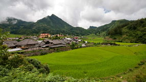 Tradtional Vietnamese village Royalty Free Stock Photos