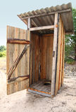 Tradtional wooden outside toilet Royalty Free Stock Photography