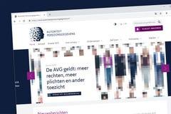 Tradução holandesa da autoridade holandesa da proteção de dados: autoriteit p imagens de stock royalty free