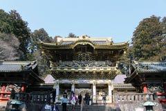 Tradução: Templo de Toshogu incluído na lista do patrimônio mundial fotografia de stock
