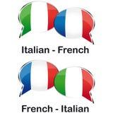 Tradutor de França do italiano Fotografia de Stock Royalty Free