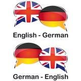 Tradutor inglês-alemão Fotografia de Stock