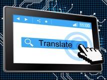 Traduza em linha o world wide web e a língua dos meios Foto de Stock Royalty Free
