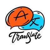 Traduza o ícone Rotulação tirada mão da frase do vetor Isolado no fundo branco ilustração do vetor