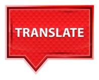 Traduza o botão cor-de-rosa cor-de-rosa enevoado da bandeira ilustração royalty free