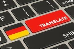 Traduza o conceito no teclado com a bandeira alemão, rendição 3D ilustração do vetor