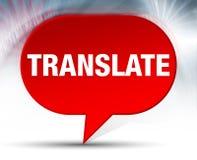 Traduza o fundo vermelho da bolha ilustração do vetor