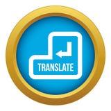 Traduza o vetor azul do ícone do botão isolado ilustração royalty free