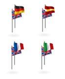 Traduzione dalle bandierine inglesi Immagine Stock Libera da Diritti