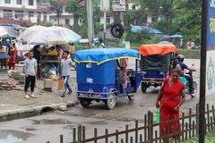Traduzione: passando il confine indiano da Sonauli - Belahiya immagini stock libere da diritti