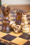 Tradycja szachy drewniane postacie Obrazy Stock