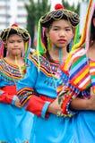 Tradycjonalnie ubierający dzieci w korowodzie na Chiang Mai 37th Zdjęcie Royalty Free
