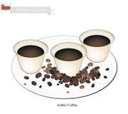 Tradycyjna Arabska kawa, Popularny Dink w Oman royalty ilustracja