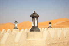 Tradycyjna arabska stylowa lampa Obrazy Royalty Free