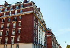 Tradycyjna architektura budynki mieszkalni Paris france Obraz Stock