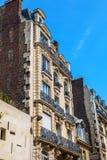 Tradycyjna architektura budynki mieszkalni Paris france Zdjęcia Stock