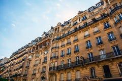 Tradycyjna architektura budynki mieszkalni Paris france Fotografia Stock