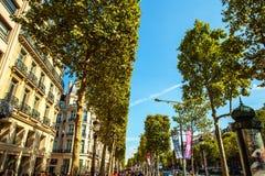 Tradycyjna architektura budynki mieszkalni Paris france Obrazy Royalty Free