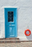 Tradycyjna architektura Oia wioska na Santorini wyspie Fotografia Stock