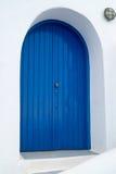 Tradycyjna architektura Oia wioska na Santorini wyspie Fotografia Royalty Free