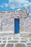 Tradycyjna architektura Oia wioska w Santorini wyspie Obrazy Stock