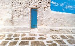 Tradycyjna architektura Oia wioska w Santorini wyspie Obraz Royalty Free