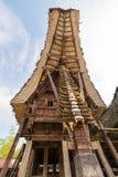 Tradycyjna architektura w Taniec Toraja Obrazy Royalty Free