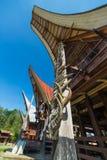 Tradycyjna architektura w Taniec Toraja Zdjęcie Royalty Free