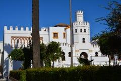 Tradycyjna architektura w Tarifa Andalusia Hiszpania obrazy stock