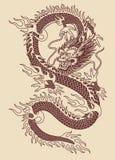 Tradycyjna Azjatycka smoka wektoru ilustracja Royalty Ilustracja