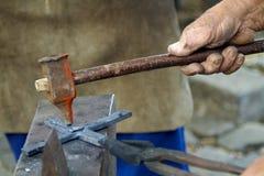 tradycyjna blacksmith scena Fotografia Stock