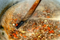 Tradycyjna bobowa polewka z warzywami Zdjęcie Royalty Free
