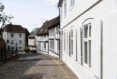 Tradycyjna brukująca ulica, Aylesbury, Buckinghamshire Zdjęcia Royalty Free
