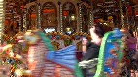 Tradycyjna brytyjska wiktoriański karuzela zbiory wideo