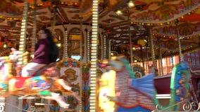 Tradycyjna brytyjska wiktoriański karuzela zdjęcie wideo