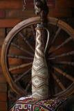 Tradycyjna butelka wino Zdjęcie Stock