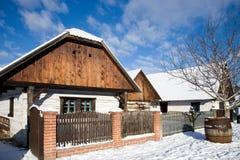 Tradycyjna chłopska architektura w na otwartym powietrzu muzeum w Prerov na Zdjęcie Stock