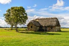 Tradycyjna chałupa, Szkocja zdjęcia royalty free
