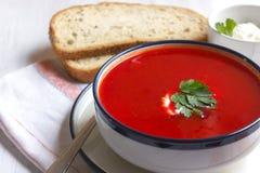 Tradycyjna czerwonego buraka polewka - barszcz Jarski diety jedzenie obraz stock
