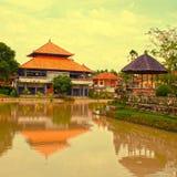 tradycyjna domowa Bali rzeka Indonesia Obrazy Royalty Free