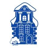 Tradycyjna domowa ikona, prosty styl ilustracji