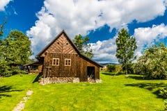 Tradycyjna drewniana wioska czecha republika obraz royalty free
