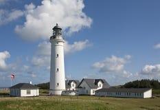 Tradycyjna Duńska latarnia morska Fotografia Stock